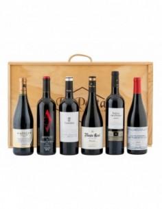 Caja madera 6 botellas vino...